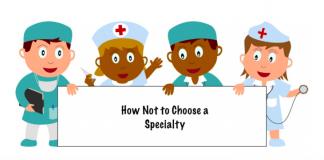 MedEdits: Choosing a specialty