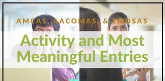 AMCAS Work and Activities