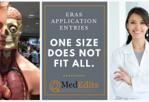 ERAS Application Entries: One size does not fit all.
