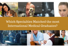 Which Specialties Matched the most International Medical Graduates?