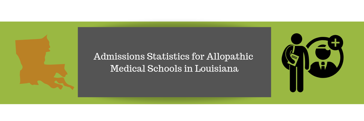 Admissions Statistics for Allopathic Medical Schools in Louisiana