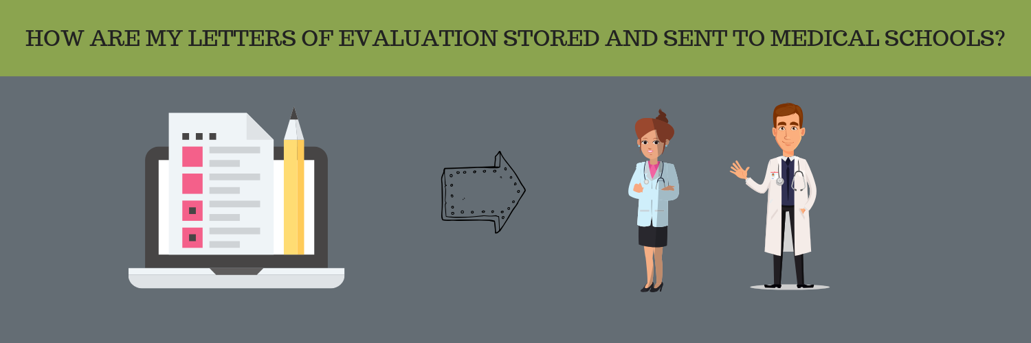 HOW ARE MY LETTERS OF EVALUATION STORED AND SENT TO MEDICAL SCHOOLS?