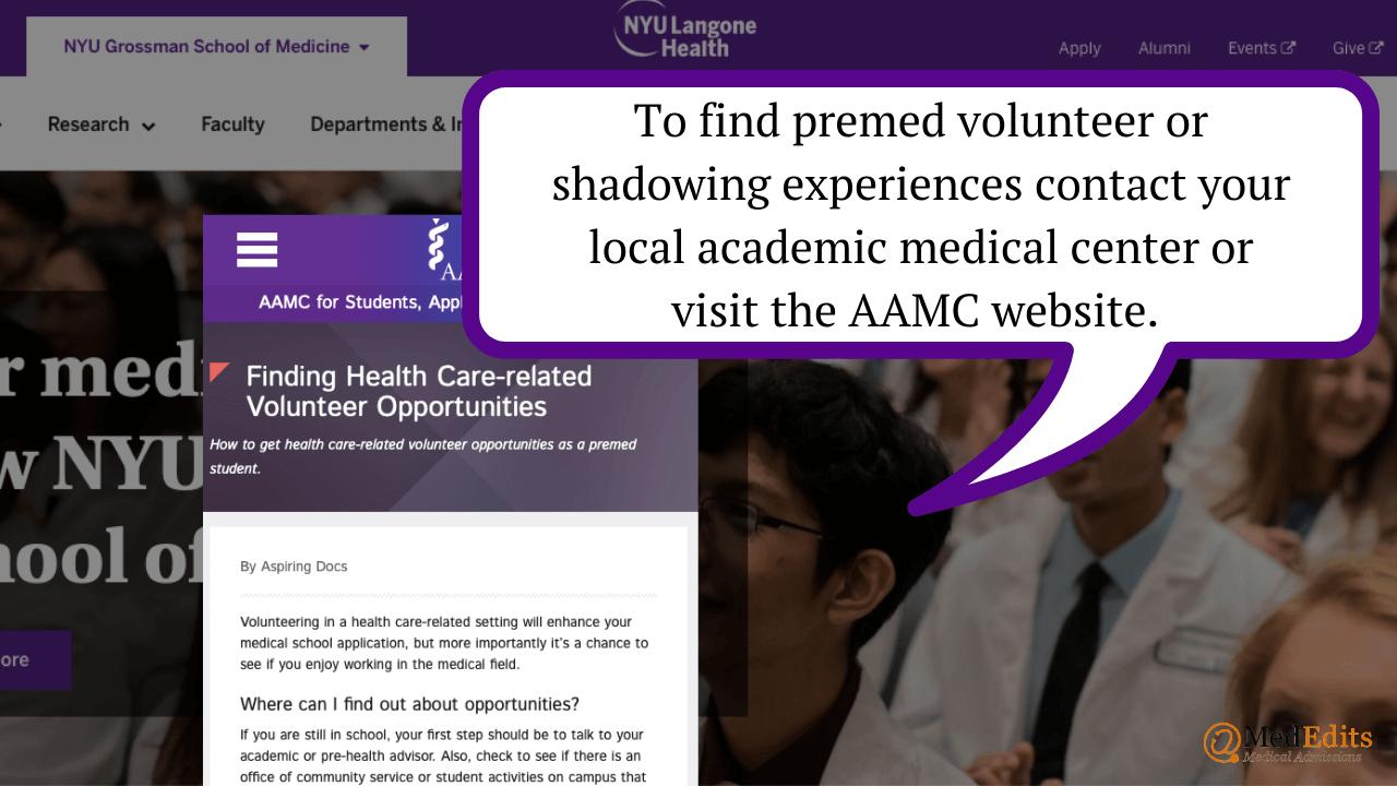 Premed volunteer experiences to help you get into NYU medical school