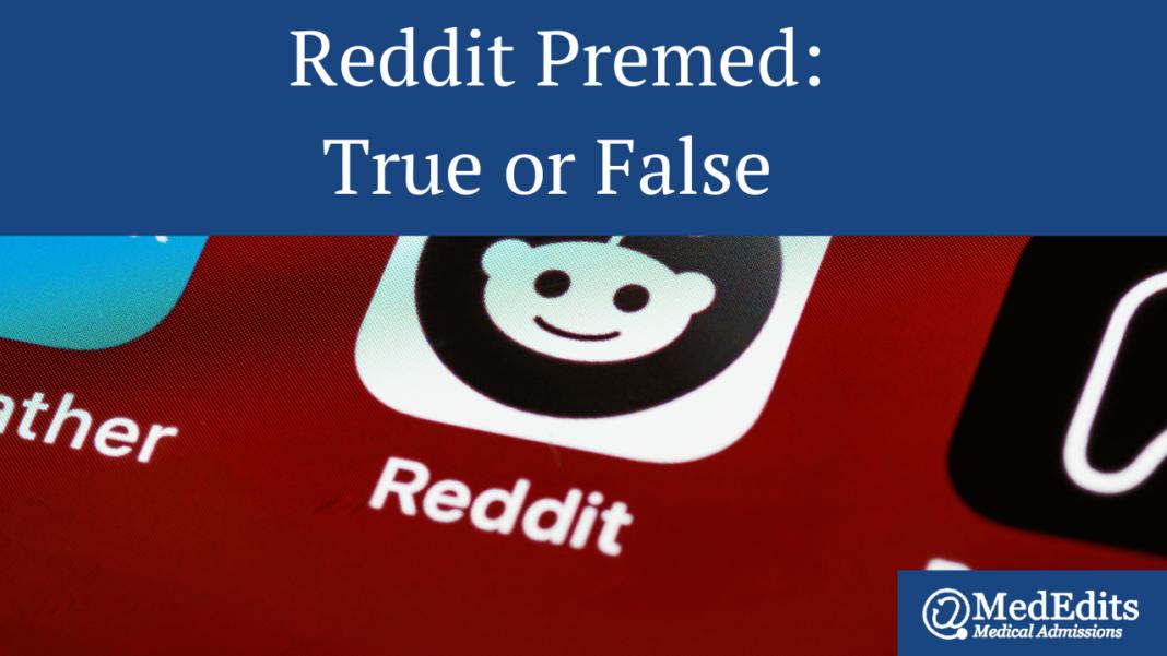 Reddit Premed